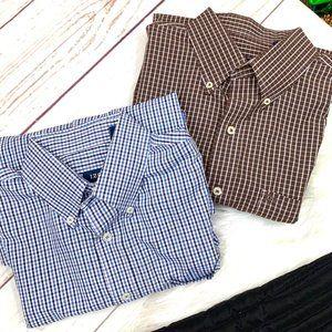 2 Men's  •IZOD•  Button Down Shirts